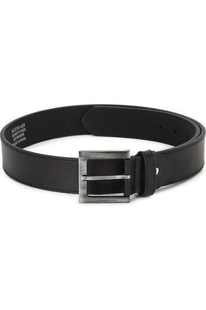 Peter England Men Black Textured PU Formal Belt