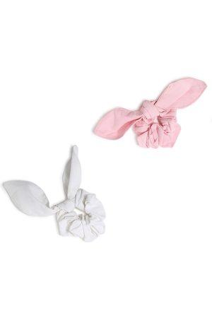 Forever 21 Women Set of 2 Pink & White Hairband