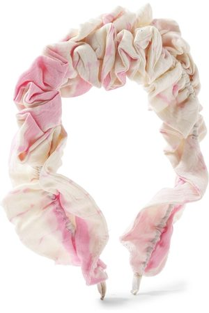 Forever 21 Women Off White & Pink Spiral Hairband