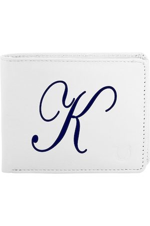 Blacksmith Men White & Blue Typography Printed PU Two Fold Wallet with SD Card Holder