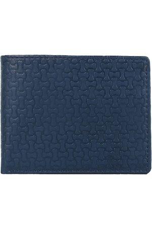Creature Men Blue Textured PU Two Fold Wallet