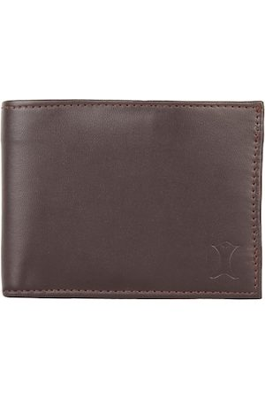 Creature Men Brown Textured PU Two Fold Wallet