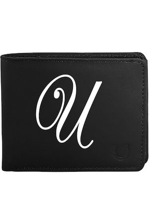 Blacksmith Men Black & White Typography Printed PU Two Fold Wallet with SD Card Holder