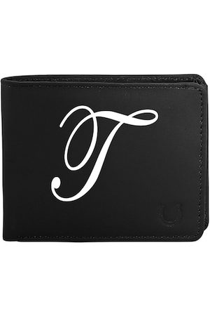 Blacksmith Men Black & White Graphic Printed PU Two Fold Wallet with SD Card Holder
