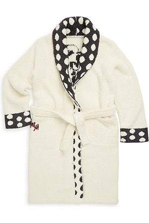 Barefoot Dreams Little Girl's & Girl's Minnie Mouse Polka-Dot Flannel Robe
