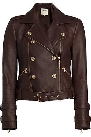 L'Agence Billie Belted Leather Jacket