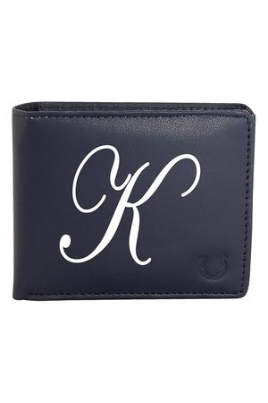 Blacksmith Men Navy Blue & White Typography Printed Two Fold Wallet with SD Card Holder