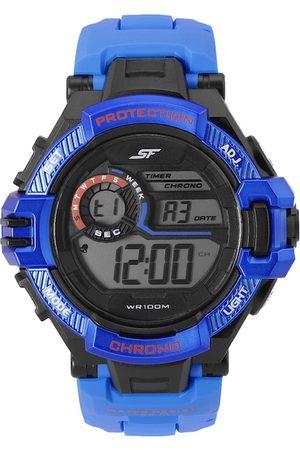 Sonata Men Blue Economy Series Textured Straps Digital Watch 77075PP05