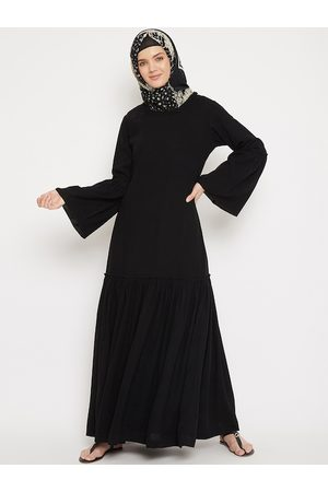 MOMIN LIBAS Women Black Solid Abaya Burqa