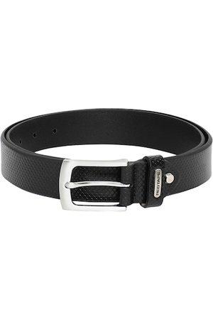 Red Tape Men Black Textured Leather Belt