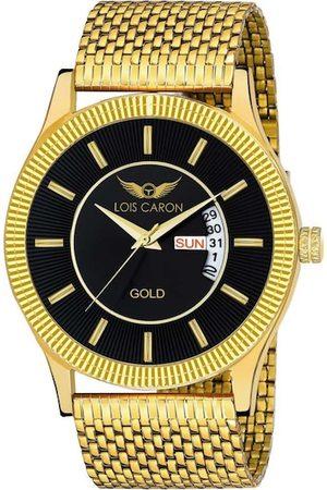 LOIS CARON Men Black & Gold-Toned Analogue Watch MLC-8441