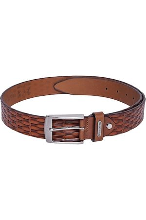 Red Tape Men Brown Textured Leather Belt