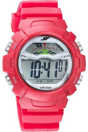 Sonata Men & Red & White Digital Watch
