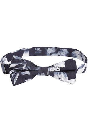 Bruun & Stengade Navy Blue & White Printed Bow Tie