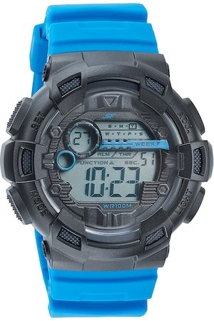 Sonata Men Grey & Black Digital Watch 77053PP09