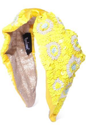 Anekaant Women Yellow & White Sequinned & Beaded Hairband