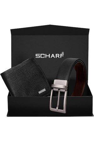Scharf Men Black Solid Accessory Gift Set