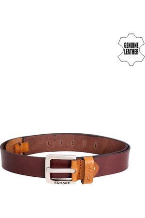 Scharf Men Tan Brown Leather Belt