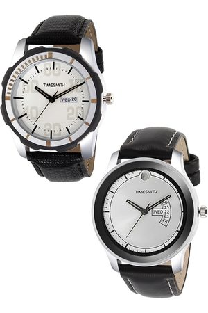 TIMESMITH Men Multicoloured Analogue Leather Set Of 2 Watch TSC-006-012x