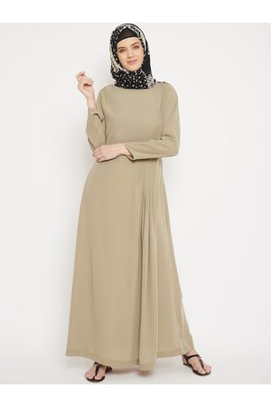 MOMIN LIBAS Women Beige Solid Abaya