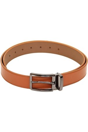 Calvadoss Men Tan Textured PU Belt