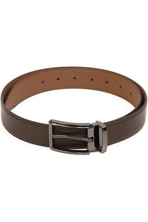 Calvadoss Men Brown Textured PU Belt