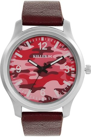 Killer Men Red & Pink Camouflage Print Analogue Watch KL-21A
