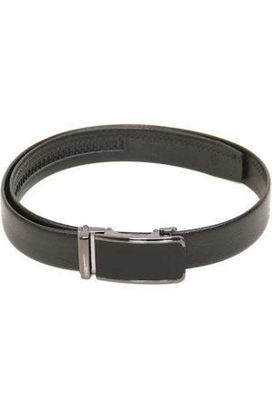 Calvadoss Men Black Textured PU Formal Belt