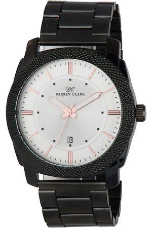 DARREN CLARK Men Silver-Toned Bracelet Style Analogue Watch 11012-NMD-02