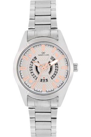 DARREN CLARK Men Silver-Toned Bracelet Style Analogue Watch 11010-SMD-02