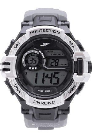 Sonata Men Grey Solid Digital Watch 77075PP07