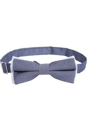 Bruun & Stengade Men Navy Blue Woven Design Textured Bow Tie