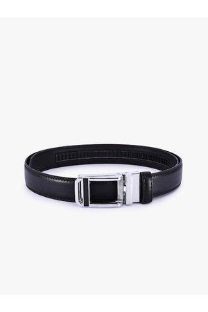 BuckleUp Men Black Solid Formal Belt