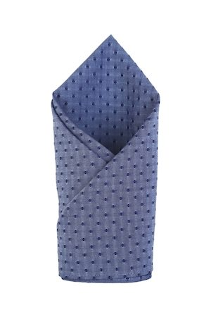 Bruun & Stengade Men Blue Printed Cotton Pocket Square