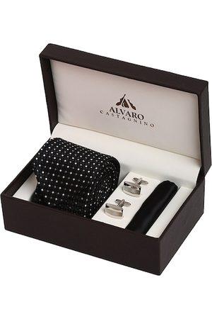 Alvaro Castagnino Men Black & White Accessory Gift Set