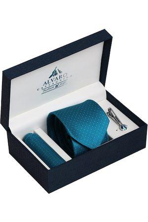 Alvaro Castagnino Men Turquoise Blue & Silver-Toned Accessory Gift Set