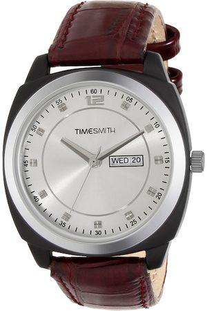 TIMESMITH Men Silver-Toned Analogue Watch TSC-003