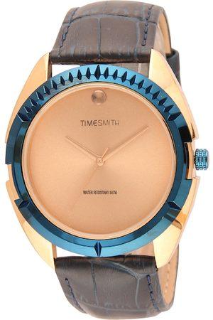 TIMESMITH Men Blue & Gold-Toned Analogue Watch TSM-138-G