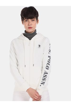 Ralph Lauren U S Polo Assn Women White Sweatshirt