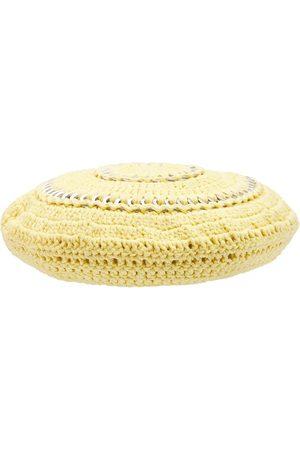 Ganni Women Hats - Cotton Knit Beret Hat