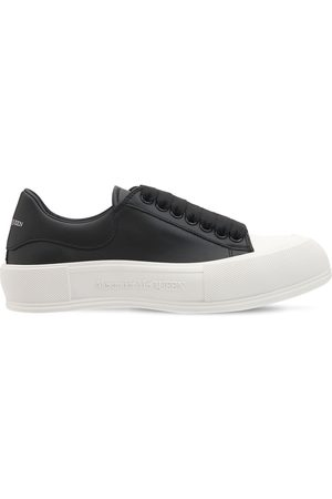 Alexander McQueen Women Casual Shoes - 45mm Deck Plimsoll Leather Sneakers