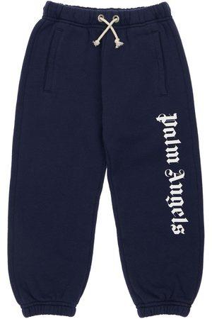 PALM ANGELS Logo Print Cotton Sweatpants