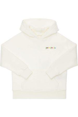 Palm Angels Girls Sweatshirts - Cotton Sweatshirt Hoodie