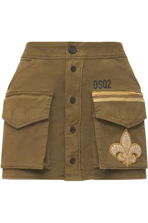 Dsquared2 Livery Stretch Cotton Mini Skirt