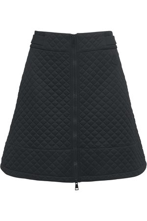 Moncler Quilted Jersey Mini Skirt