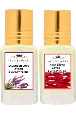 Menjewell Fragrances Combo Pack of 2PCs Attar (Lavender Love 5ML, Rose Fresh 5ML)