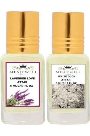 Menjewell Set Of 2 Lavender Love & White Oudh Attar Perfume