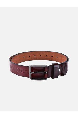 BuckleUp Men Brown Leather Belt