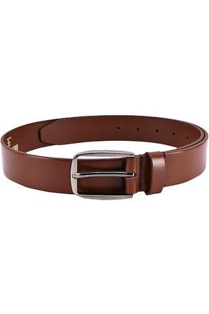 BuckleUp Men Tan Brown Leather Belt