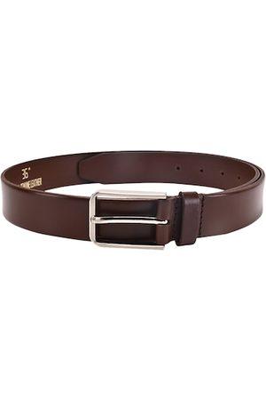 BuckleUp Men Brown Leather Formal Belt